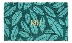 Gift Company Fußmatte Kokos Hello Jungle 45 x 75 cm schwarz grün türkis
