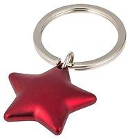 Gift Company Schlüsselanhänger Stern Rot matt