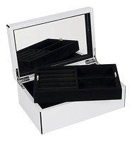 Gift Company Schmuckbox Tang S mit Spiegel 22 cm weiß