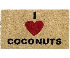 Gift Company Fußmatte I Love Coconuts Kokos 74 x 44cm beige