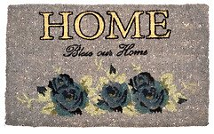 Gift Company Fußmatte Home Kokos grau Rosen 74 x 44cm