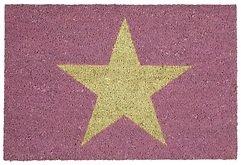 Gift Company Fußmatte Kokos Star rosa 45 x 75cm