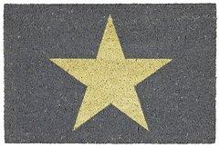 Gift Company Fußmatte Kokos Star grau 45 x 75cm