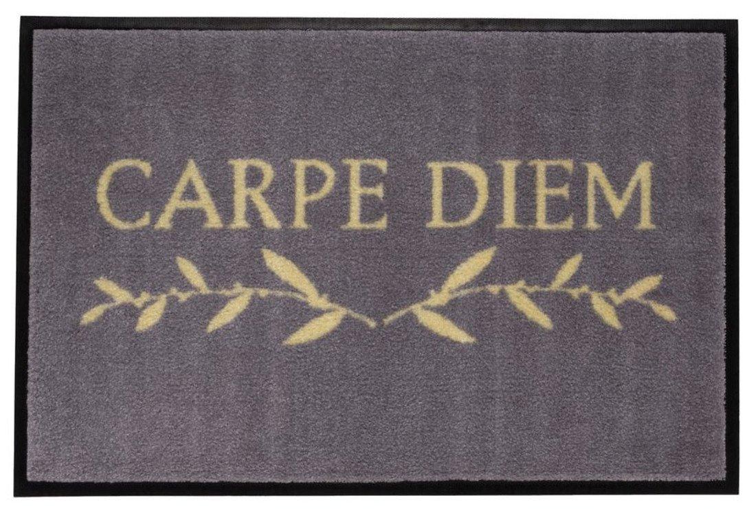 gift company fu matte carpe diem waschbar 75 x 50cm grau kaufen. Black Bedroom Furniture Sets. Home Design Ideas