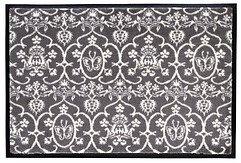 Gift Company Fußmatte Butterfly waschbar 75 x 50cm grau