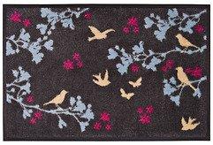 Gift Company Fußmatte Birds waschbar 75 x 50cm grau