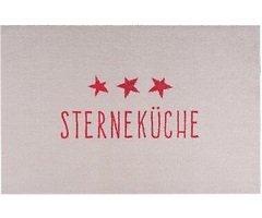 Gift Company Küchenmatte Sterneküche waschbar 50 x 75 cm beige rot