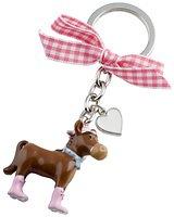 Gift Company Schlüsselanhänger Pferd braun/pink