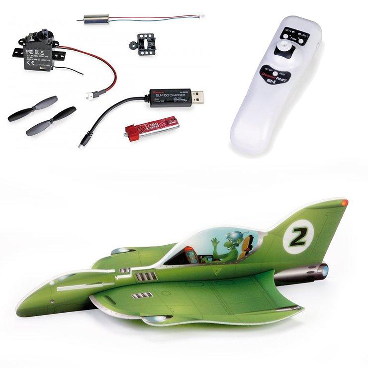Graupner Leichtbau Racer Set Alien Rocket mit Vector Unit und MZ-4 HoTT - Pic 1