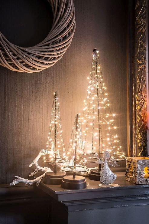 Christmas United LED Weihnachtsbaum 85 LED innen 42cm Metall kupfer - Pic 2