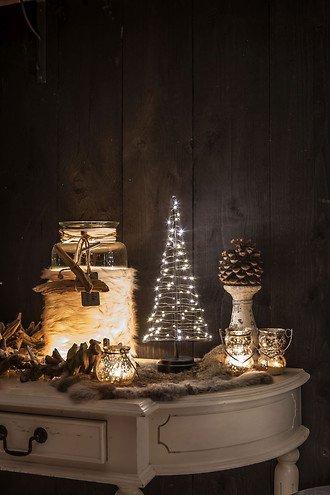 Christmas United LED Weihnachtsbaum 60 LED innen 32cm Metall kupfer