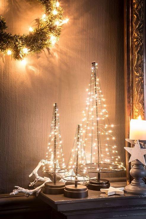 Christmas United LED Weihnachtsbaum 60 LED innen 32cm Metall schwarz kupfer - Pic 2