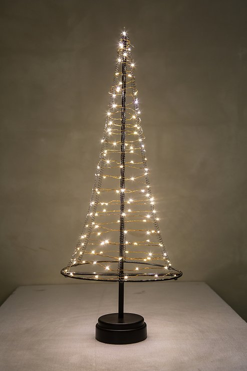 Christmas United LED Weihnachtsbaum 120 LED innen 50cm Metall kupfer - Pic 3