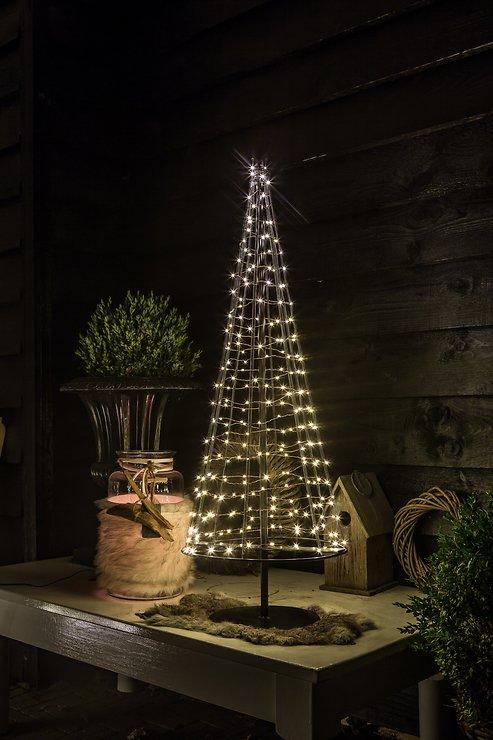 christmas united led weihnachtsbaum 250 led 100cm metall kupfer innen au en kaufen. Black Bedroom Furniture Sets. Home Design Ideas