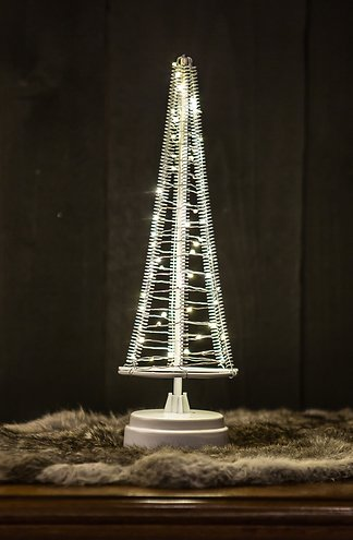 f8f649f0b272 Christmas United LED Weihnachtsbaum 85 LED innen 42cm Metall silber kaufen    lichterkettenshop24.de