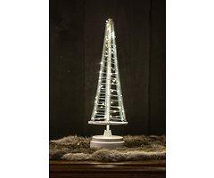 Christmas United LED Weihnachtsbaum 85 LED innen 42cm Metall silber