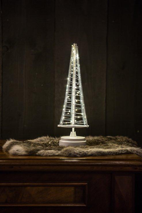 Christmas United LED Weihnachtsbaum 60 LED innen 32cm Metall silber - Pic 1