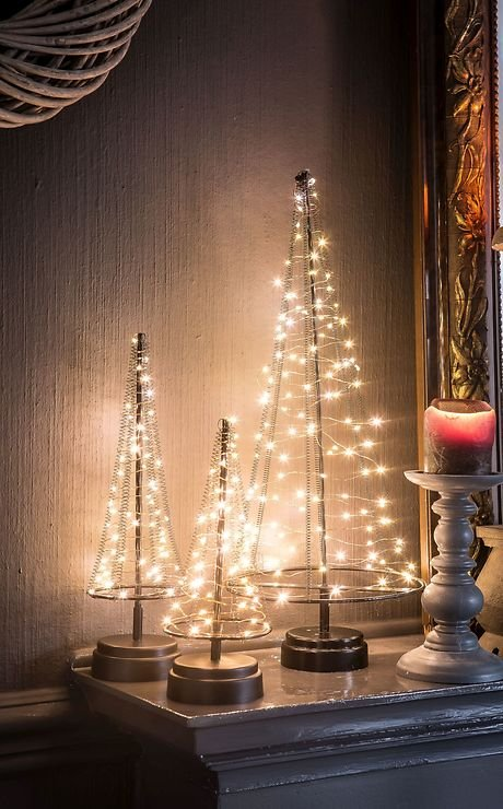 christmas united led weihnachtsbaum 40 led innen 25cm. Black Bedroom Furniture Sets. Home Design Ideas