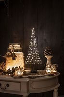 Christmas United LED Weihnachtsbaum 120 LED innen 50cm Metall silber