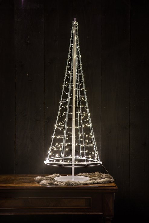 Christmas United LED Weihnachtsbaum 250 LED 100cm Metall silber innen/außen - Pic 3