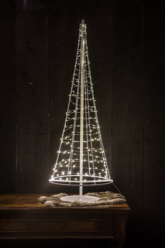 christmas united led weihnachtsbaum 250 led 100cm metall silber innen au en kaufen. Black Bedroom Furniture Sets. Home Design Ideas