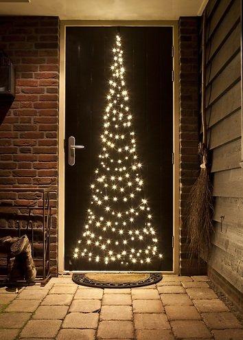Lichterkette Weihnachtsbaum Außen.Fairybell Led Weihnachtsbaum Türhänger 120 Led Warmweiß Außen 2 1m Kaufen Lichterkettenshop24 De