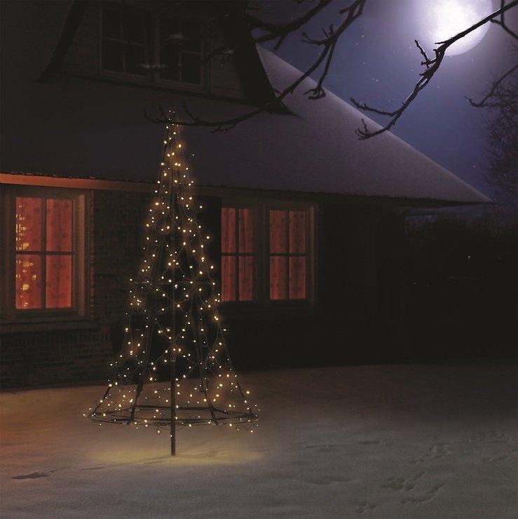 Fairybell LED Weihnachtsbaum 250 LED warmweiß außen 1,85m - Pic 2