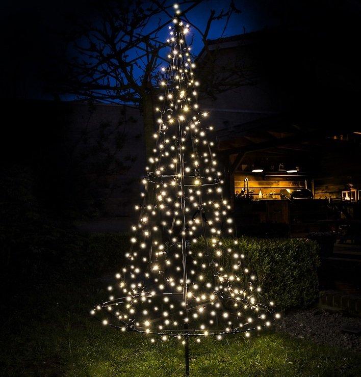 Fairybell LED Weihnachtsbaum 250 LED warmweiß außen 1,85m - Pic 3