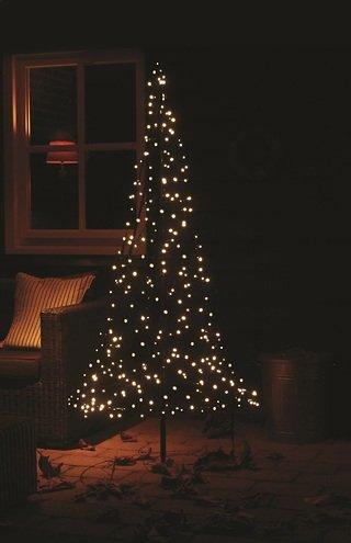 Fairybell LED Weihnachtsbaum 250 LED warmweiß außen 1,85m