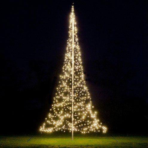 Fairybell LED Baum Fahnenmast 600 LED warmweiß außen 6m