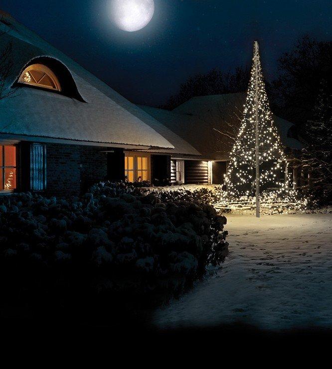 Fairybell LED Baum Fahnenmast 960 LED warmweiß außen 6m - Pic 2