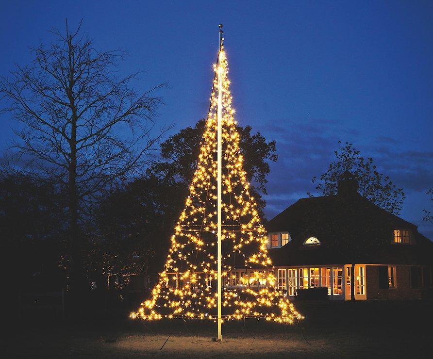 Fairybell LED Baum Fahnenmast 960 LED warmweiß außen 6m - Pic 1