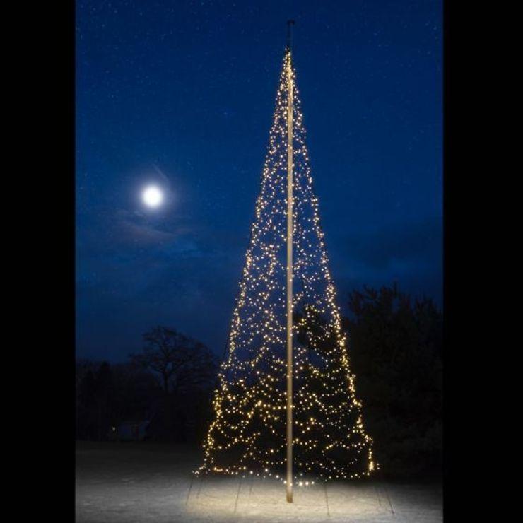 Fairybell LED Baum Fahnenmast 2000 LED warmweiß außen 10m - Pic 1