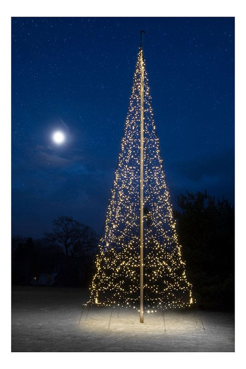 Fairybell LED Baum Fahnenmast 4000 LED warmweiß außen 10m - Pic 1
