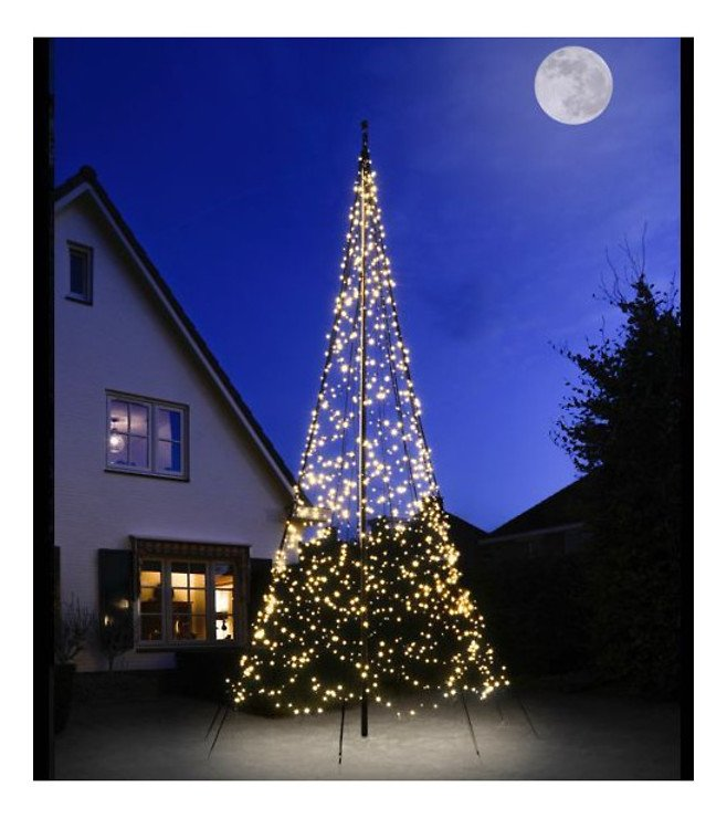 Fairybell LED Baum Fahnenmast 1200 LED warmweiß außen 6m - Pic 1