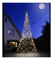Fairybell LED Baum Fahnenmast 1200 LED warmweiß außen 6m