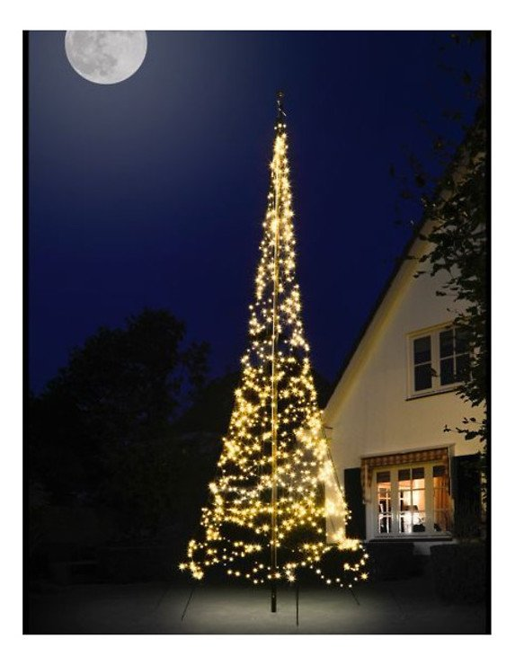 Fairybell LED Baum Fahnenmast 900 LED warmweiß außen 6 m - Pic 1