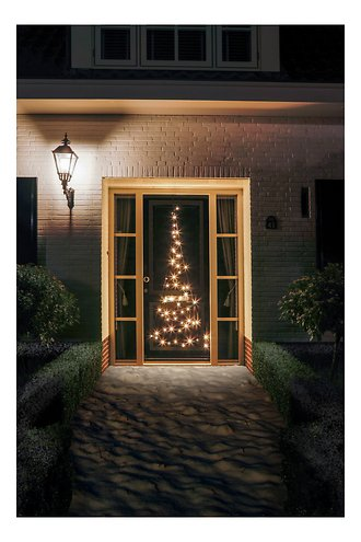 Fairybell LED Weihnachtsbaum Türhänger 60 LED warmweiß außen 2,1 m