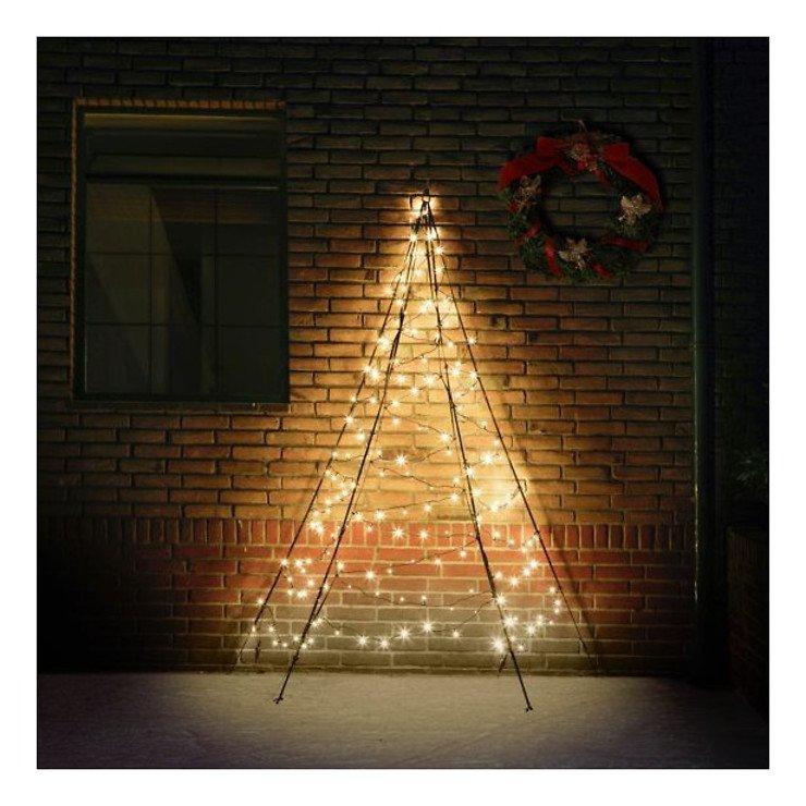 Fairybell LED Weihnachtsbaum Wanddekoration 180 LED warmweiß außen 2m - Pic 1