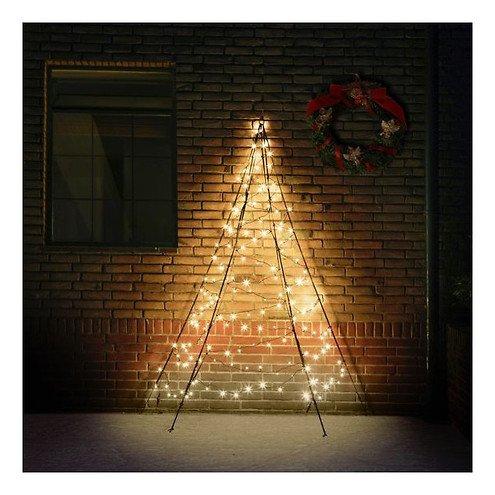 Fairybell LED Weihnachtsbaum Wanddekoration 180 LED warmweiß außen 2 m