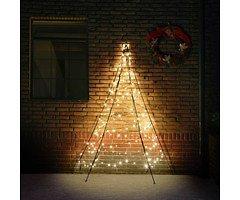 Fairybell LED Weihnachtsbaum Wanddekoration 180 LED warmweiß außen 2m