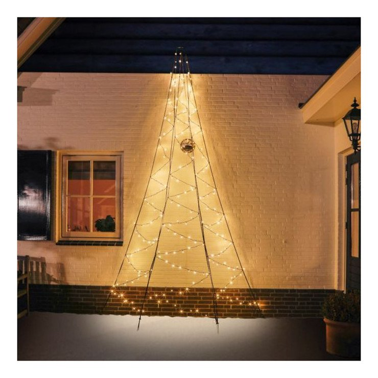Fairybell LED Weihnachtsbaum Wanddekoration 240 LED warmweiß außen 4m - Pic 1