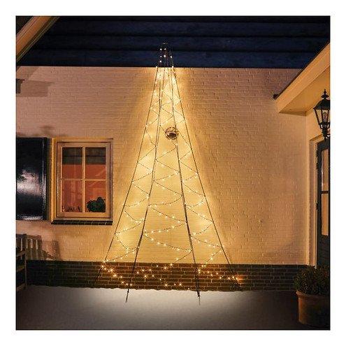 Fairybell LED Weihnachtsbaum Wanddekoration 240 LED warmweiß außen 4m