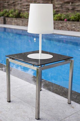 Gacoli Tischleuchte Checkmate Table No.2 Solarlampe weiß