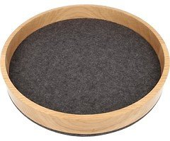 Hey-Sign Holzschale Bowl Eiche mit Filz 26,5 cm anthrazit