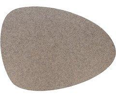 Hey-Sign Tischset Filz 5 mm oval 44 x 38 cm hellmeliert