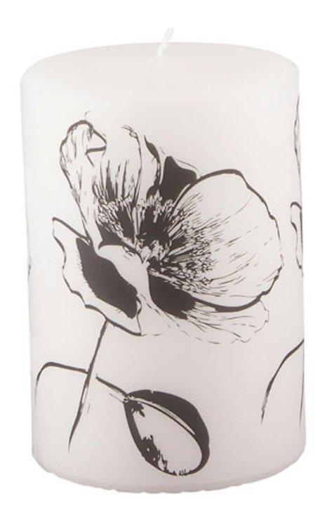 Broste Copenhagen Pergament Kerze 15 cm Flower - Pic 1