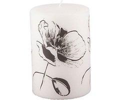 Broste Copenhagen Pergament Kerze 15 cm Flower