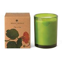 Rosy Rings Duftkerze im Glas Wein Orchidee 85h