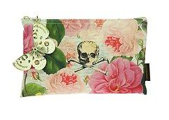 Tokyo Milk Kosmetiktasche Skull with Roses 23 x 15 cm